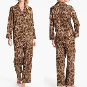 Ralph Lauren Leopard Monogrammed Pajama Top Size L